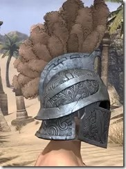 Order of the Hour Iron Helm - Male Right