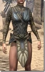 Outlaw Iron Cuirass  - Female Front