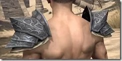 Yokudan Iron Pauldron - Male Rear