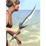 Scalecaller Iron Dagger
