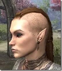 Dangling Triple-Chain Earrings Female Side