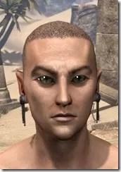 Dangling Triple-Chain Earrings Male Front