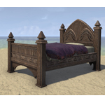 Alinor Bed, Polished Single