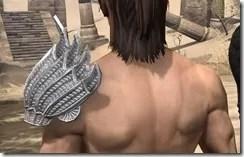 Pyandonean Iron Pauldron - Male Rear