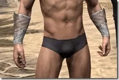 Pyandonean Rawhide Bracers - Male Front