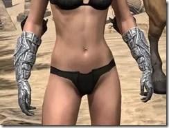Dremora Iron Gauntlets - Female Front