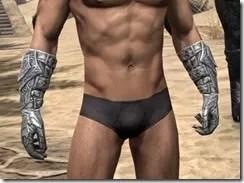 Dremora Iron Gauntlets - Male Front