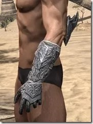 Dremora Iron Gauntlets - Male Side