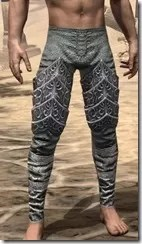 Dremora Iron Greaves - Male Front