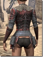 Silver Dawn Heavy Cuirass - Female Rear