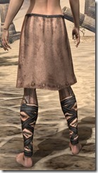 Aproned Kilt and Trousers Female Rear