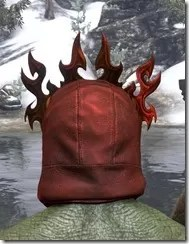 Flkamebrow Fire Veil Argonian Rear