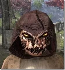Pumpkin Spectre Mask - Khajiit Front