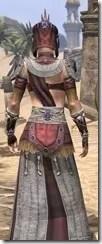 Elder Argonian Ancestor Silk - Female Robe Close Rear