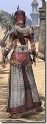 Elder Argonian Ancestor Silk - Female Robe Rear