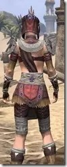 Elder Argonian Ancestor Silk - Female Shirt Close Rear