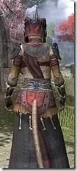 Elder Argonian - Khajiit Female Robe Close Rear