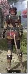 Elder Argonian - Khajiit Female Shirt Rear