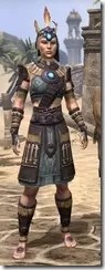 Elder Argonian Rubedo Leather - Female Front