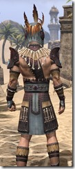 Elder Argonian Rubedo Leather - Male Close Rear