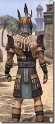 Elder Argonian Rubedo Leather - Male Close Rear