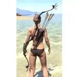 Elder Argonian Ruby Ash Bow