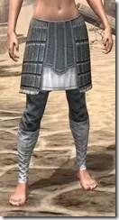 Silver Dawn Iron Greaves - Female Front