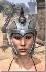 Silver Dawn Iron Helm - Female Front