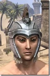 Silver Dawn Iron Helm - Male Front