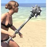 Silver Dawn Iron Mace