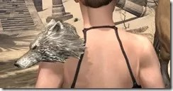 Silver Dawn Iron Pauldron - Female Rear