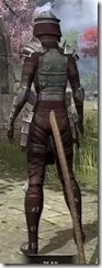 Centurion Dress Armor - Khajiit Female Rear
