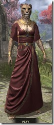 Cyrod Patrician Formal Gown - Khajiit Female Front