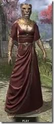 Cyrod Patrician Formal Gown - Khajiit Female Front