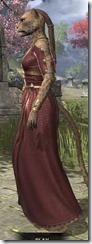 Cyrod Patrician Formal Gown - Khajiit Female Side