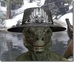 Deluxe Mourning Hat Argonian Male Front