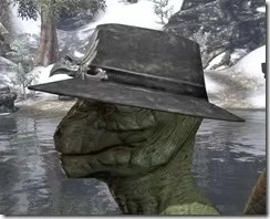 Deluxe Mourning Hat Argonian Male Side