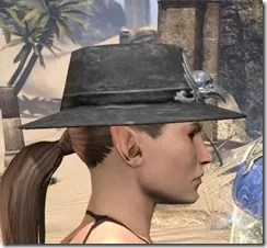 Deluxe Mourning Hat Female Side