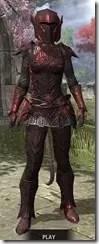 Ebony Heavy - Khajiit Female Front