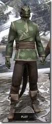 Eternity Tunic with Pants - Argonian Male Front