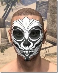 Floral Skull Face Tattoo Male Front