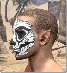 Floral Skull Face Tattoo Male Side
