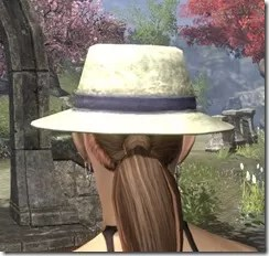 Modest Mourning Hat Dyed Rear