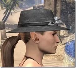 Modest Mourning Hat Female Side