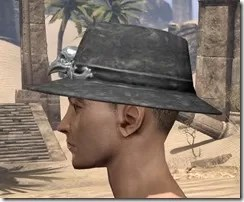 Modest Mourning Hat Male Side