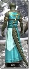 Nibenese Noble's Shawled Robe Argonian Male Rear