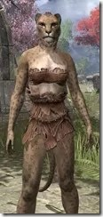 Nordic Bather's Towel Khajiit Female Close Front
