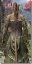 Off-the-Shoulder Evening Dress - Khajiit Female Close Rear