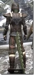 Orcisg Scout Armor - Argonian Male Rear