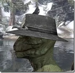 Plumed Mourning Hat Argonian Male Side